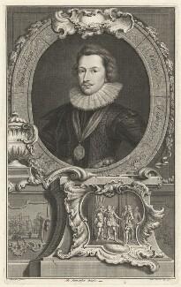 George Villiers, 1st Duke of Buckingham, by Jacobus Houbraken, after  Cornelius Johnson (Cornelius Janssen van Ceulen) - NPG D32285