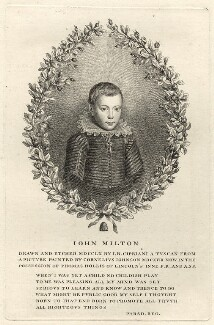 John Milton, by Giovanni Battista Cipriani, after  Cornelius Johnson (Cornelius Janssen van Ceulen) - NPG D27946