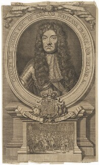 King Charles II, by Robert Sheppard, after  Sir Godfrey Kneller, Bt - NPG D32289