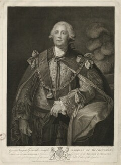 George Nugent Temple Grenville, 1st Marquess of Buckingham, by John Keyse Sherwin, after  Thomas Gainsborough - NPG D32297