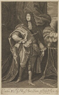 King Charles II, by William Sherwin, after  Unknown artist - NPG D32290