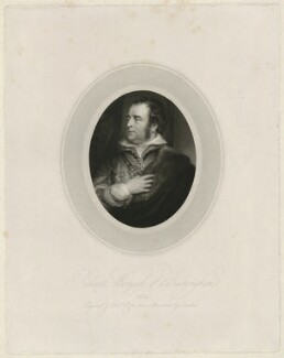 Richard Temple-Nugent-Brydges-Chandos-Grenville, 1st Duke of Buckingham and Chandos, by Robert Cooper, after  George Sanders (Saunders) - NPG D32298