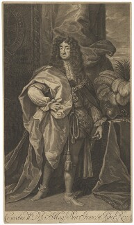 King Charles II, by Robert White, after  Unknown artist - NPG D32291