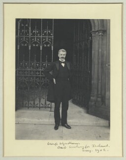 George Wyndham, by Sir (John) Benjamin Stone, May 1902 - NPG x35566 - © National Portrait Gallery, London