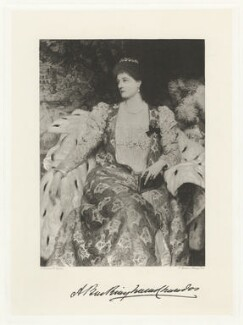 Alice Anne (née Montgomery), Duchess of Buckingham and Chandos (later Lady Egerton), by Frederick John Jenkins, after  Frank Dicksee - NPG D32302