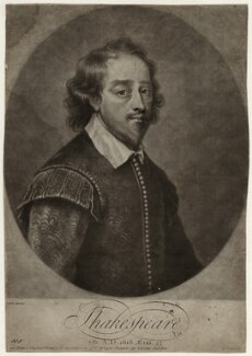 William Shakespeare, by John Simon, after  Gilbert Soest - NPG D27948
