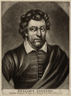 Benjamin ('Ben') Jonson, published by Robert Sayer, published by  John Bennett, after  Gerrit van Honthorst, after  Abraham van Blyenberch - NPG D27950