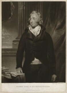 Robert Hobart, 4th Earl of Buckinghamshire, by Robert Dunkarton, and by  Joseph Grozer, published by  William Richardson, after  Sir Thomas Lawrence - NPG D32306