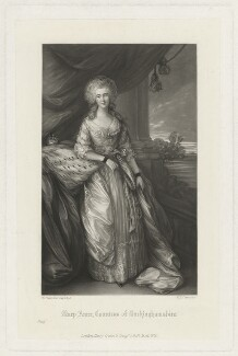 Mary Anne Hobart (née Drury), Countess of Buckinghamshire, by William Henry Simmons, after  Thomas Gainsborough - NPG D32308