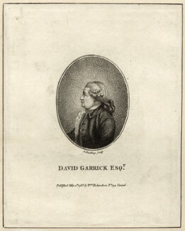 David Garrick, by Burnet Reading, published by  William Richardson - NPG D27956
