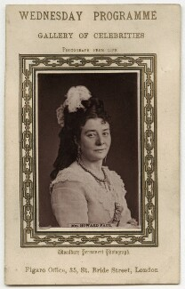 Isabella Featherstone (née Hill) (Mrs Howard Paul), published by Figaro Office, 1870s - NPG x12697 - © National Portrait Gallery, London