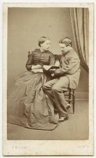 Mary Peile (née Braithwaite); Thomas Williamson Peile, by Daniel William Savin - NPG x32777