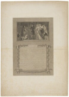 Lady Mary presented to the Prince of Orange (King Charles II; King William III; Queen Mary II), by James Parker, published by  Robert Bowyer, after  Thomas Stothard - NPG D32295