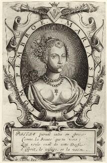 Mary Herbert, Countess of Pembroke, by Jean de Courbes - NPG D27988
