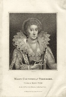 Mary Herbert, Countess of Pembroke, by E. Bocquet, published by  John Scott - NPG D27989