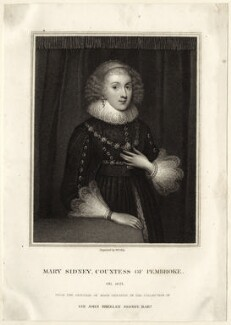 Mary Herbert, Countess of Pembroke, by William Thomas Fry, after  Marcus Gheeraerts the Younger - NPG D27990