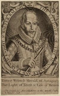 Sir Walter Ralegh (Raleigh) (Raleigh), printed for Matt. Gillyflower, after  Simon de Passe - NPG D27999