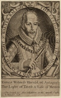 Sir Walter Ralegh (Raleigh), printed for Matt. Gillyflower, after  Simon de Passe, (1617) - NPG D27999 - © National Portrait Gallery, London