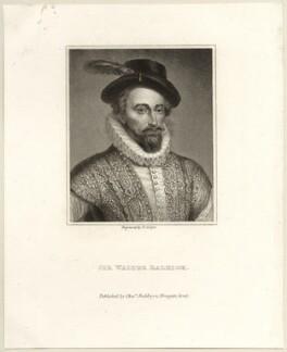 Sir Walter Ralegh (Raleigh), by Robert Cooper, published by  Charles Baldwyn - NPG D28001