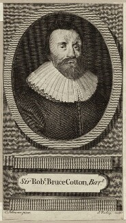 Sir Robert Bruce Cotton, 1st Bt, by James Tookey, after  Cornelius Johnson (Cornelius Janssen van Ceulen) - NPG D28025