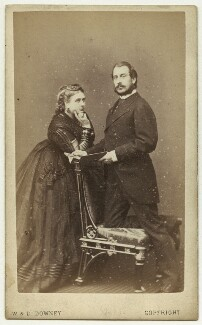 Princess Mary Adelaide, Duchess of Teck; Prince Francis, Duke of Teck, by W. & D. Downey - NPG x3607