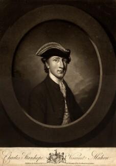 Charles Stanhope, 3rd Earl Stanhope, by Thomas Watson, after  Antoine Daniel Prud'homme - NPG D9146