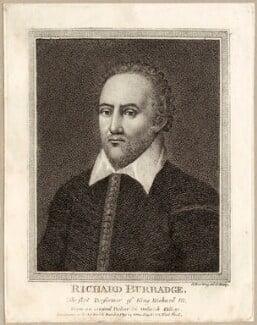 Richard Burbage (Burbadge), by Silvester (Sylvester) Harding - NPG D28074