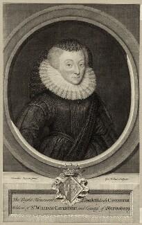 Bess of Hardwick, by George Vertue, after  Cornelius Johnson (Cornelius Janssen van Ceulen) - NPG D28087