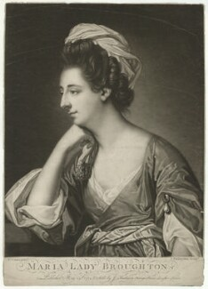 Maria (née Wicker), Lady Broughton, by John Finlayson, after  Francis Cotes - NPG D32369