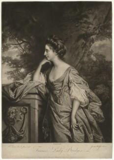 Frances (née Fowler), Lady Bridges, by James Watson, after  Francis Cotes - NPG D32370