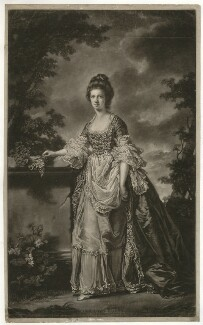 Mary (née Heblethwayte), Lady Boynton, by James Watson, after  Francis Cotes - NPG D32371
