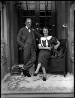 Sir Francis Minchin Voules; Louise Renée (née Rol), Lady Voules, by Bassano Ltd - NPG x152270
