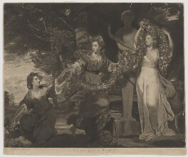 'A Sacrifice to Hymen', by Thomas Watson, published by  James Birchall, after  Sir Joshua Reynolds - NPG D32373