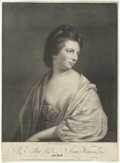 Elizabeth Bull, by James Watson, printed for  Carington Bowles, printed for  Robert Sayer, after  Robert Edge Pine - NPG D32374