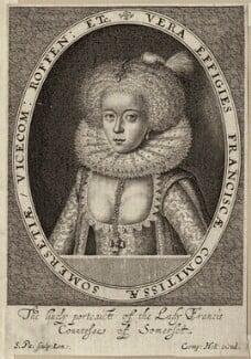 Frances, Countess of Somerset, by Simon de Passe - NPG D28096