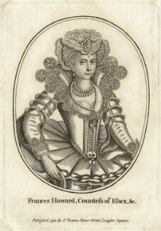 Frances, Countess of Somerset, after Unknown artist, published by  John Thane - NPG D28100