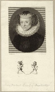 Mary Herbert, Countess of Pembroke, by James Tuck, after  Harding - NPG D28102