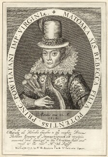 Pocahontas, after Simon de Passe, published by  William Richardson - NPG D28135