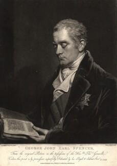 George John Spencer, 2nd Earl Spencer, by Henry Meyer, published by  Robert Cribb & Son, after  John Hoppner - NPG D9147