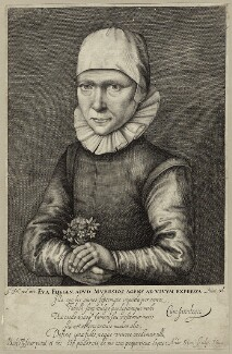 Eva Fligen, by Andries Jacobsz. Stock - NPG D28161