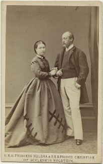 Princess Helena Augusta Victoria of Schleswig-Holstein; Prince Christian of Schleswig-Holstein, by Hills & Saunders - NPG x36360
