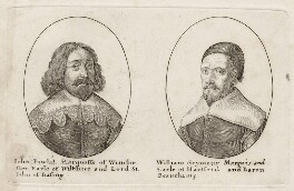 John Paulet, 5th Marquess of Winchester; William Seymour, 2nd Duke of Somerset, by Wenceslaus Hollar - NPG D28165