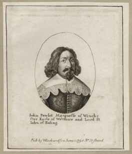 John Paulet, 5th Marquess of Winchester, after Wenceslaus Hollar, published by  William Richardson - NPG D28166