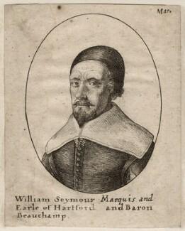 William Seymour, 2nd Duke of Somerset, by Wenceslaus Hollar - NPG D28170