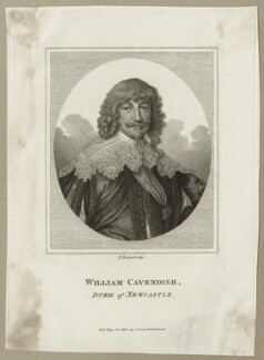 William Cavendish, 1st Duke of Newcastle-upon-Tyne, by E. Bocquet, published by  John Scott - NPG D28175