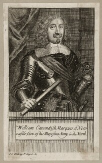 William Cavendish, 1st Duke of Newcastle-upon-Tyne, possibly by George Vertue, after  Sir Anthony van Dyck - NPG D28176