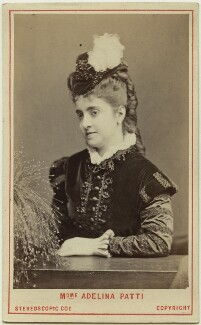 Adelina Patti as Marguerite de Valois in 'Les Huguenots', by London Stereoscopic & Photographic Company - NPG Ax28489