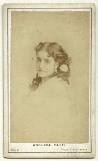 Adelina Patti, by Charles Reutlinger, 1870 - NPG x12681 - © National Portrait Gallery, London