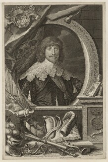 William Cavendish, 1st Duke of Newcastle-upon-Tyne, by George Vertue, after  Sir Anthony van Dyck, published by  John & Paul Knapton - NPG D28179