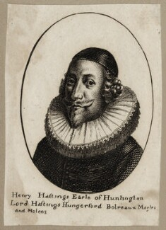 Henry Hastings, 5th Earl of Huntingdon, after Wenceslaus Hollar, published by  William Richardson - NPG D28189